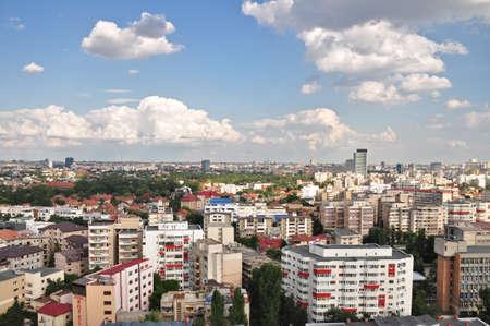 Panoramic view of Bucharest,Romania.