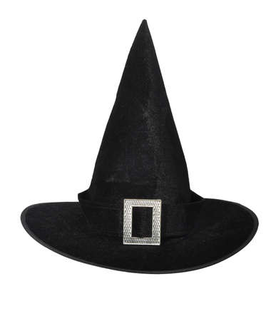 velvet dress: Witch hat isolated on a white background.