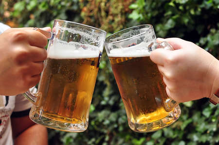 tapper: Cheers with beers Stock Photo