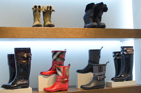 accesories: Woman boots Stock Photo