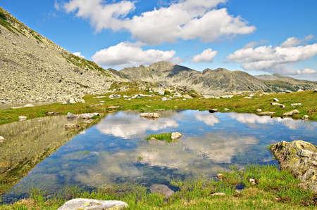 Mountain landscape in Romania 스톡 콘텐츠