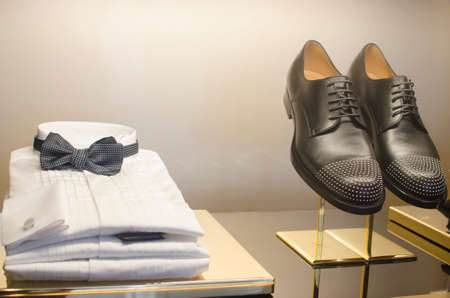 clothing store: A luxury store with mens clothing.