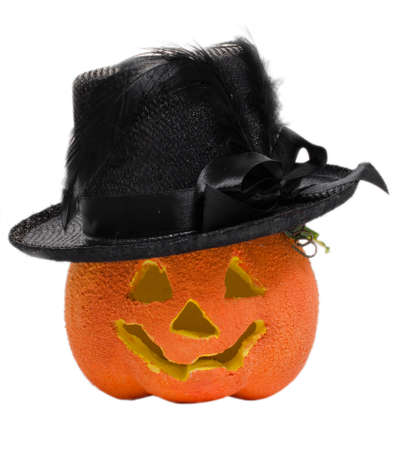 horribly: Halloween pumpkin with a hat