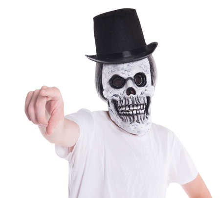 Scary face with top hat