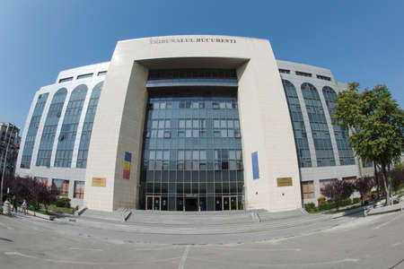 courthouse: BUCHAREST, ROMANIA – September 18, 2015 Facade of the Bucharest Courthouse placed on Unirii Boulevard. Editorial
