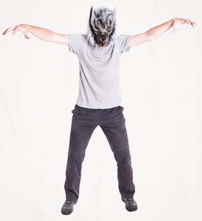 man head: Wolf mask