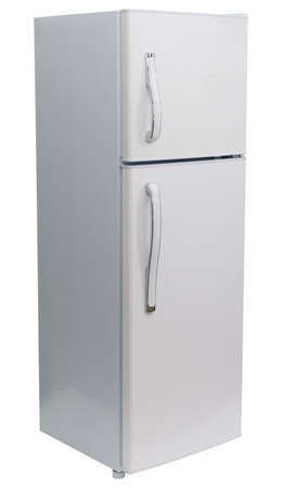 refrigerador: Aislado Nevera Foto de archivo