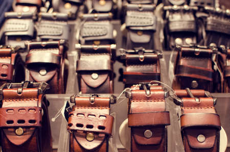 fashion store: Belts in a fashion store