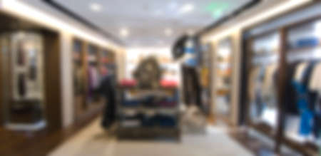 men's clothing: Mens clothing store in blur background Stock Photo