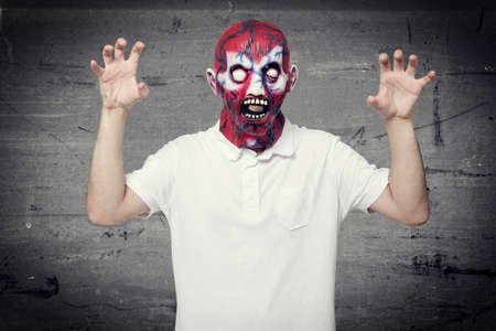 ghostlike: Scary face Stock Photo