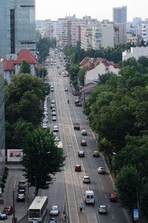 urbanistic: Bucharest, Romania - July 08, 2014: Day traffic in Bucharest