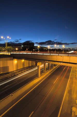 night traffic: Night traffic on a highway Stock Photo