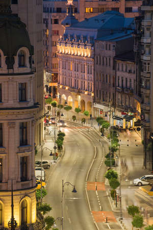 Bucharest night scene