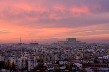 Bucharest skyline