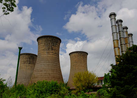 cooling towers: Cooling towers in rest