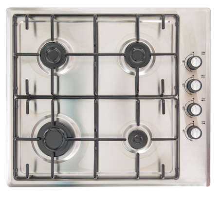 major household appliance: Electric stove, isolated on a white background.