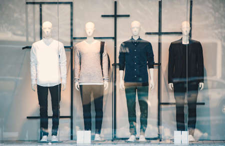 Mens clothing in a retail store