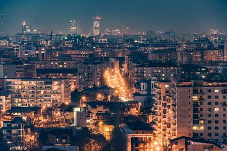 nightscene: Bucharest nightscene Stock Photo