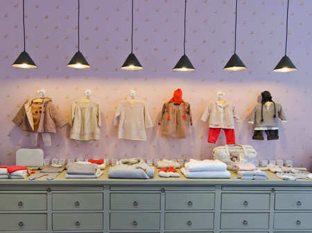 Children clothing store 스톡 콘텐츠