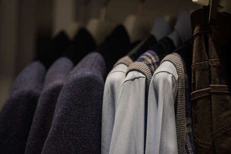 manequin: Men clothing from fall winter collection in Milan