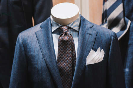 Elegant suits in a store Stock Photo