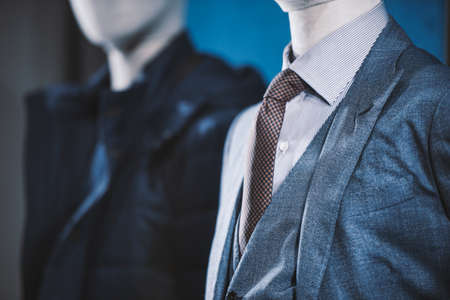 tailored: Elegant suits in a store Stock Photo