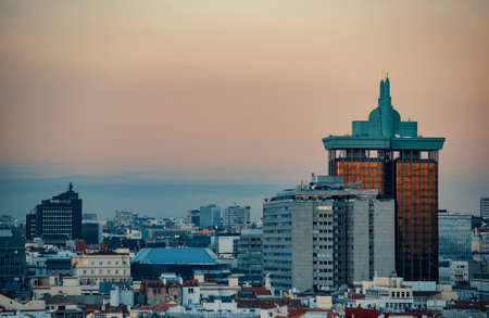 Madrid at sunset Stock Photo