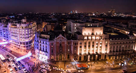 Madrid night view