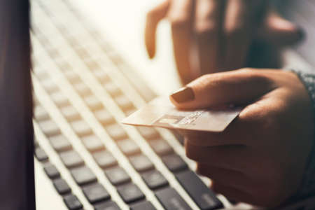 paying: Online shopping and paying concept