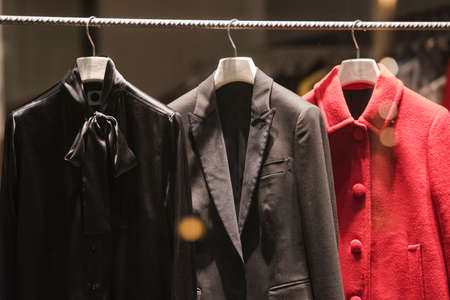 togs: Women jackets in a store