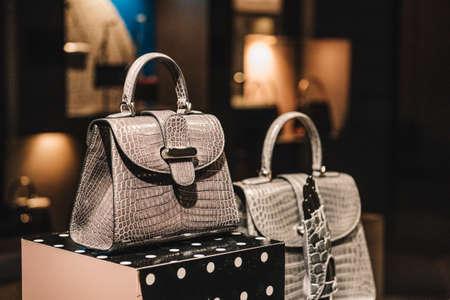 luxe handtassen Stockfoto