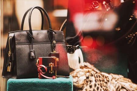 luxury showcase of a fashion store