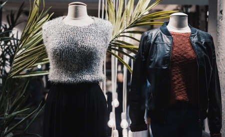 mannequins in a fashion store Stock Photo