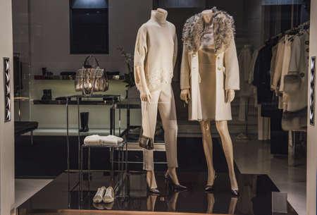 Woman clothing shop Banque d'images