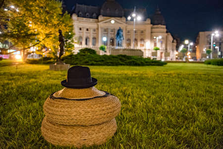 top hat in a park in bucharest