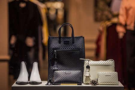 Elegant fashion store apparel 스톡 콘텐츠