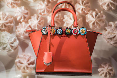 Paris, France - May 6, 2017: Fendi luxury handbags in a store in Paris. Editorial