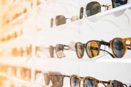 ストアのサングラス 写真素材