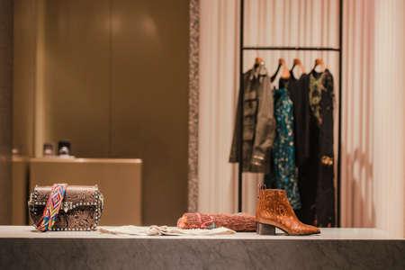 Fashion store showase Stock Photo