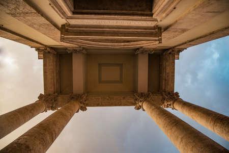 Greek columns in Rome