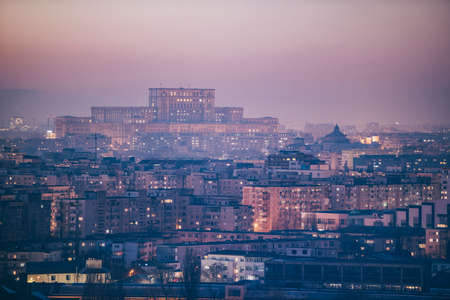 Bucharest view at dusk
