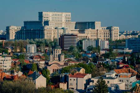 Bukarest Stadtzentrum im Sommer