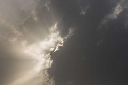 sun rise: Cloud burst during sun rise