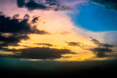 colorful sky: Colorful Sky Stock Photo