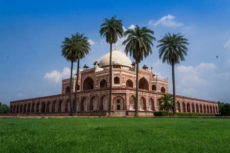 mughal architecture: Beautiful view of Humayuns Tomb, Delhi Stock Photo