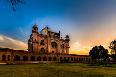Beautiful view of Safdarjungs Tomb during sunset, New Delhi Reklamní fotografie