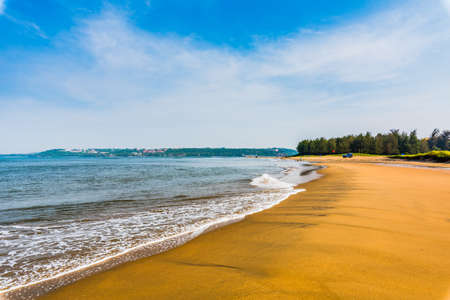 Tranquil waves at Miramar Beach, Goa