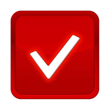 check button red square Banco de Imagens