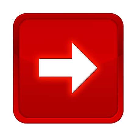 freccia destra: pulsante freccia destra quadrato rosso