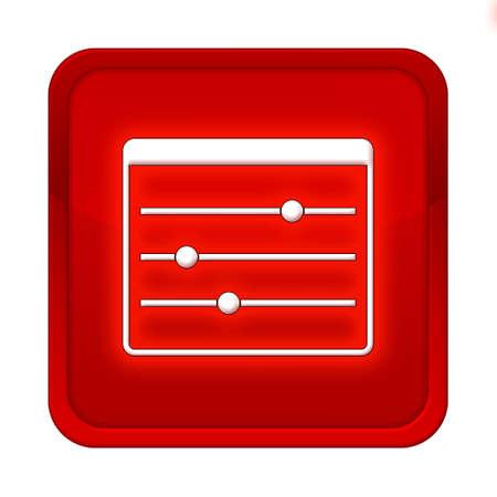 modulator: settings button red square